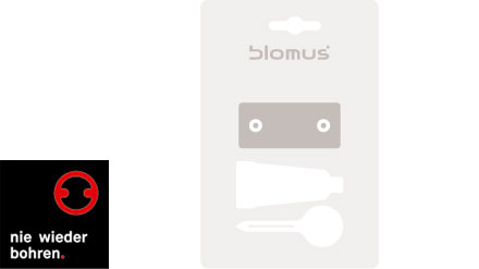 montagematerial 68658 f blomus sento nie wieder bohren. Black Bedroom Furniture Sets. Home Design Ideas